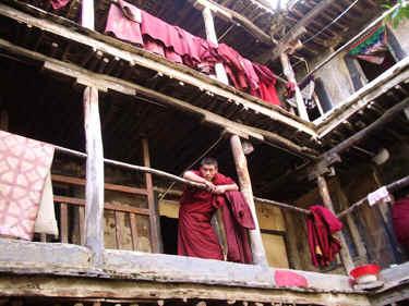 Tibetan Monk Dorm Balcony