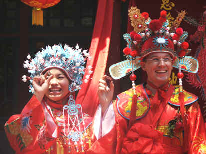 Traditional Chinese Wedding Costume