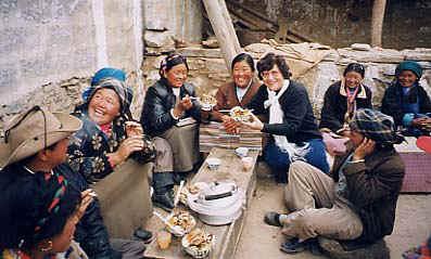 Tibetan Women Group Laughing