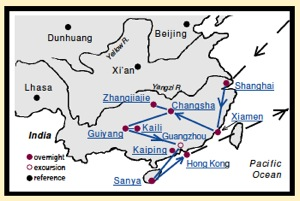 China Tour Map from Access China Tours 2010