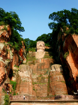 Large Buddha Carving in Hillside