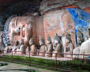 Laying Buddha with other Buddhist Carvings on North and Baoding Hill