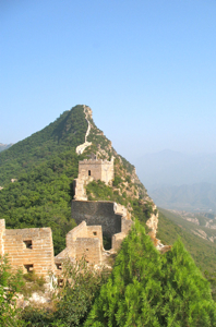 Great Wall of China with watch towers