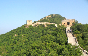 Great Wall of China surrounded by trees