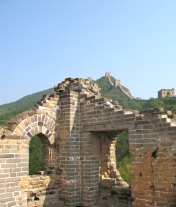 Great Wall of China, close up of watch tower