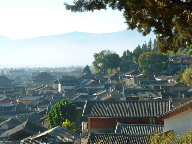 Lijiang rooftops of the village, Chinese architecture