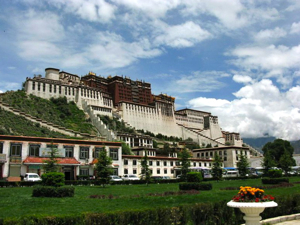 Potala Palace, Lhasa, with green lawn