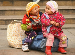 Chinese children at Spring Festival