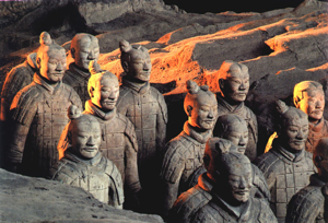 clay soldiers of Chinese ruler