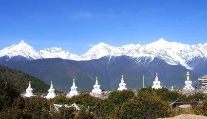 Tibetan stupas in dali yunnan