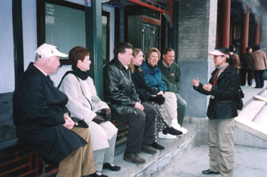 China tour group learning from guide
