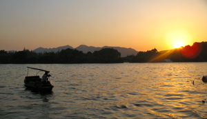 Hangzhou River at Sunset, China