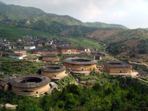 Round Hakka communal house, China