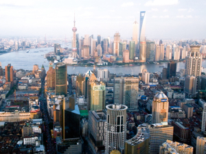 Shanghai, thriving Chinese city
