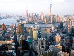 Shanghai, thriving Chinese city