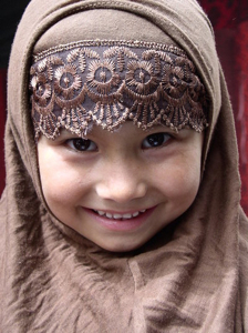 smiling girl, Silk Road, China