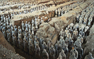 Xian Terracotta soldiers in trench